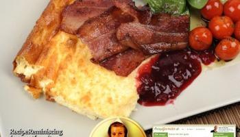 tjockpannkaka med bacon