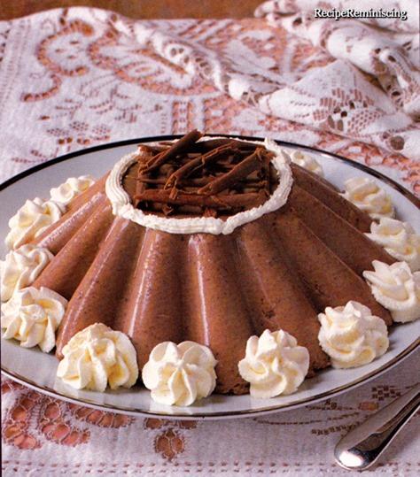 chocolate and coffee bavarois_page