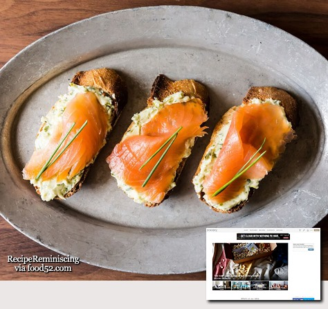 Smoked Salmon on Mustard-Chive and Dill Butter Toasts_food52_post