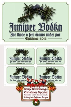Labels For The Juniper Liquor / Etiketter For Einerdrammen