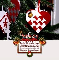 Christmas Paper Hearts / Julekurver