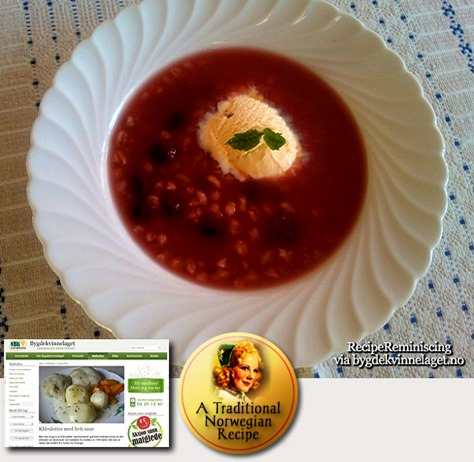 Barley Cordial Soup / Byggryns Saftsuppe
