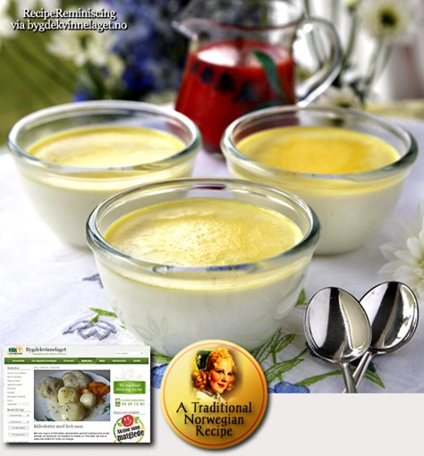 Colostrum Pudding / Råmelkspudding
