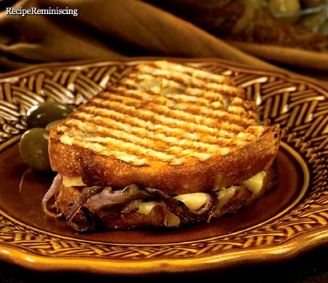 Beef, Onion and Horseradish Cheddar Panini