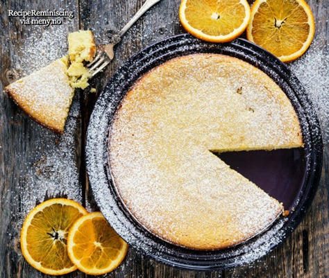 Almond Meal Cake with Orange, Ricotta and White Chocolate