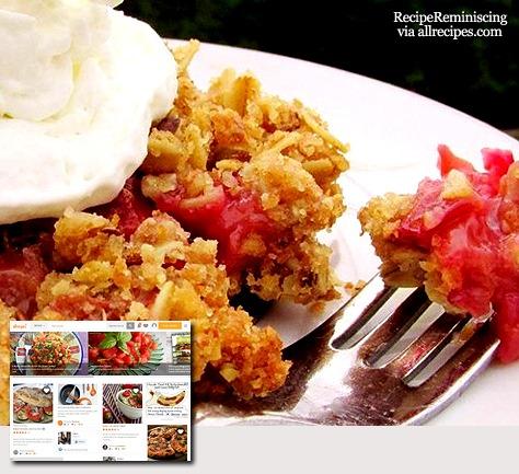 Royal Rhubarb Crisp / Kongelig Rabarbra Dessert