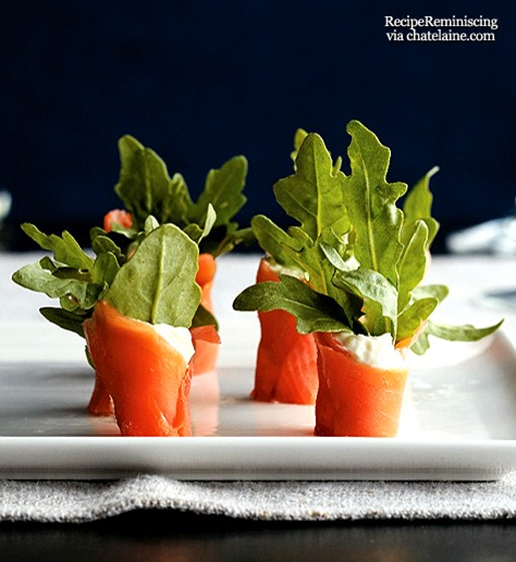Smoked Salmon and Watercress Wraps