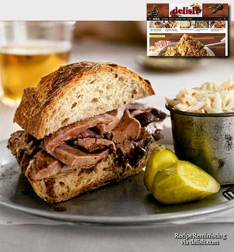 Spiced Beef Sandwich / Krydret Oksekjøttsandwich