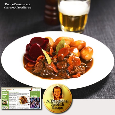 Beef Stew With Potatoes From Southern Sweden / Skånsk Kalops Med Potatis