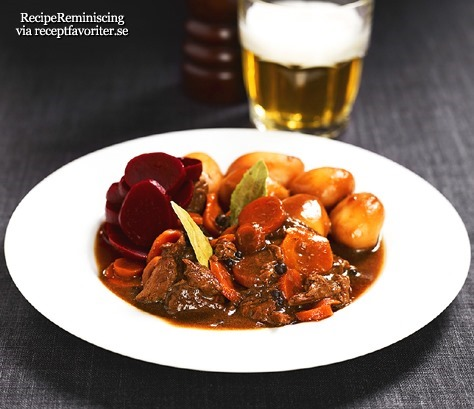 Beef Stew With Potatoes From Southern Sweden
