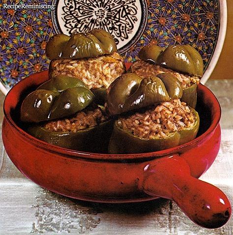 Felfel Bil Roz - Egyptian Stuffed Peppers
