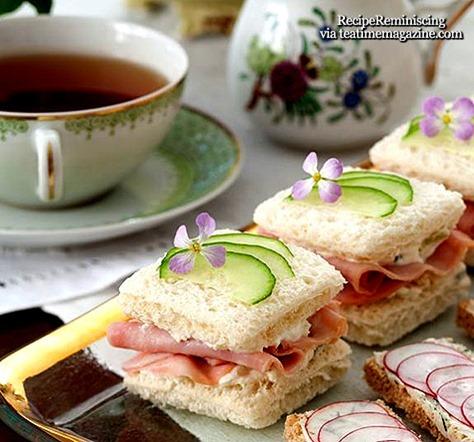 Skinke, Ananas, og Agurk Sandwicher