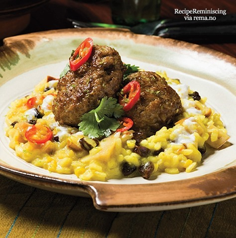 Curry Meatballs And Coconut Rice