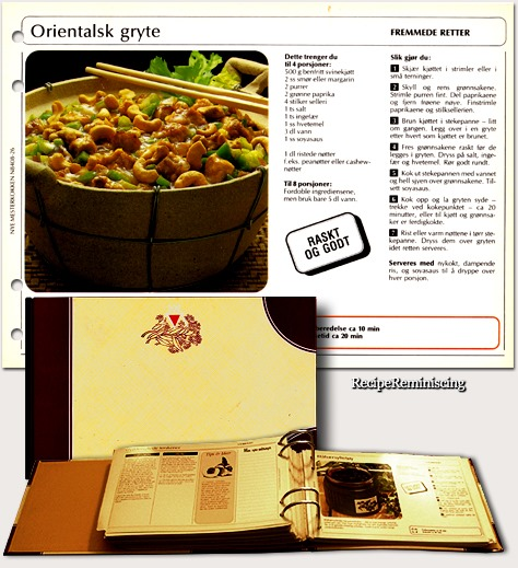 Oriental Casserole / Orientalsk Gryte