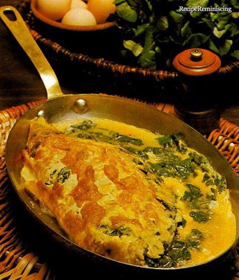 Spinatomelett - Omelette aux Épinards