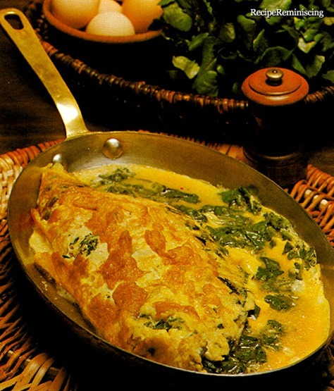 Spinach Omelette - Omelette aux Épinards