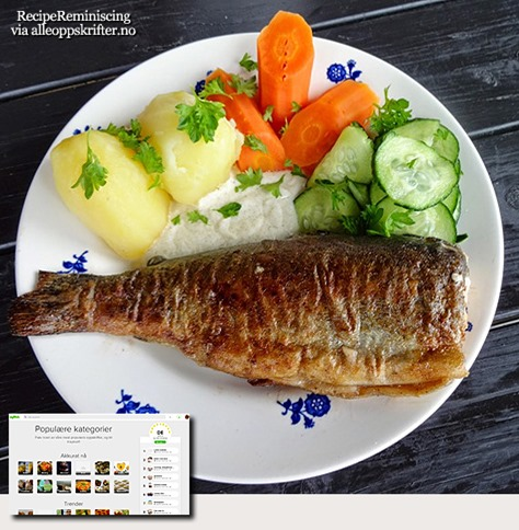 Fried Trout With Cucumber Salad And Crème Fraîche Sauce / Stekt Fjellørret Med Agurksalat Og Crème Fraîchesaus