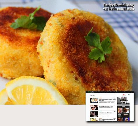Traditional Irish Cod Fish Cakes / Tradisjonelle Irske Fiskekaker Av Torsk