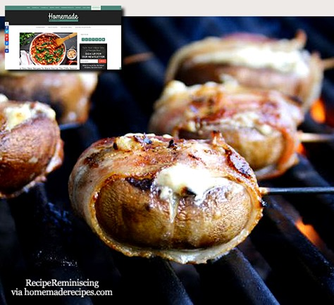 Blue Cheese Filled Bacon-Wrapped Mushrooms / Roquefortfylte Baconsurret Sopp