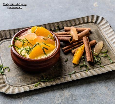 Creme Catalane med Smak av Sitrus