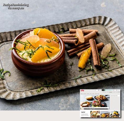 Citrus Flavor Creme Catalane / Creme Catalane med Smak av Sitrus