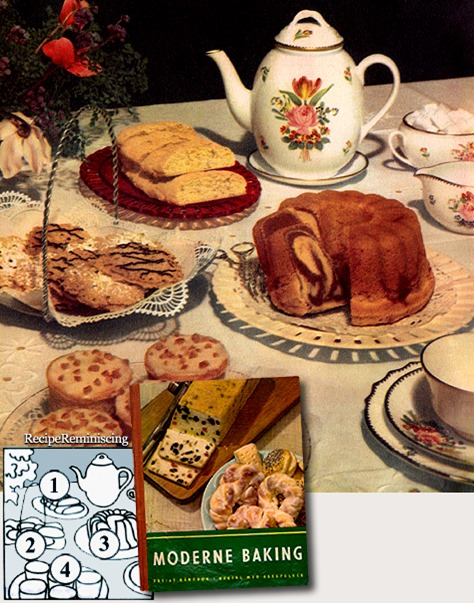 4 Classic Cakes From The Thirties / 4 Klassiske Kaker Fra Tredvetallet