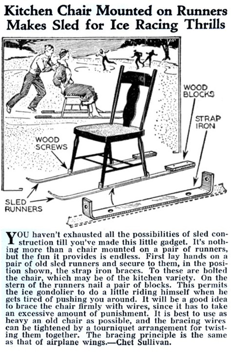 Kitchen Chair Sled