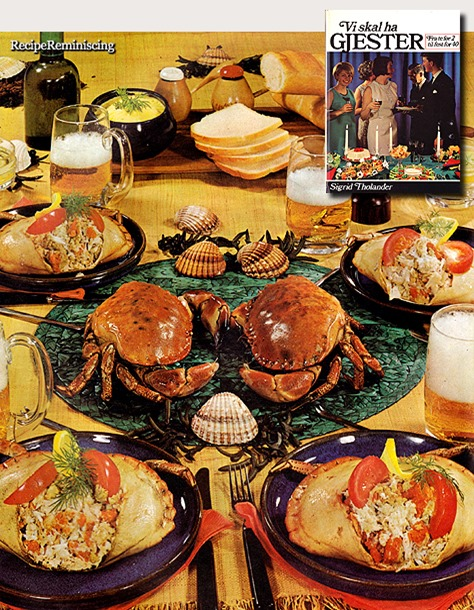 A Crab Evening for 4 Sixties Style / Krabbeaften for 4 Som På Sekstitallet