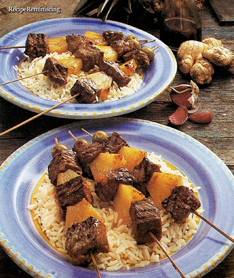 South Sea Beef Kebabs with Pineapple
