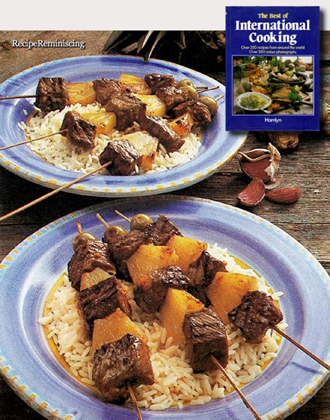 South Sea Beef Kebabs with Pineapple / Syd Havs Grillspyd med Biff og Ananas