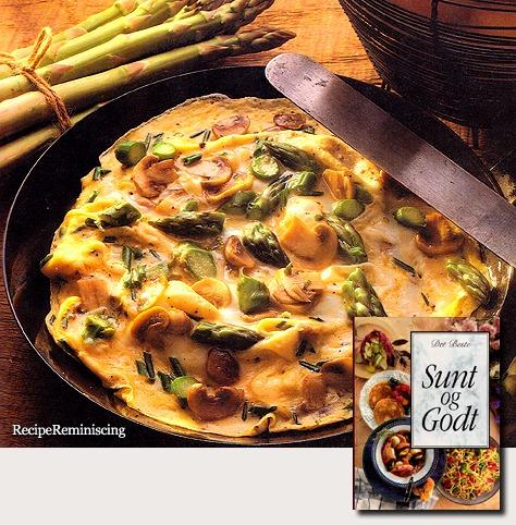 Asparagus and Mushroom Omelette / Asparges- og Soppomelett
