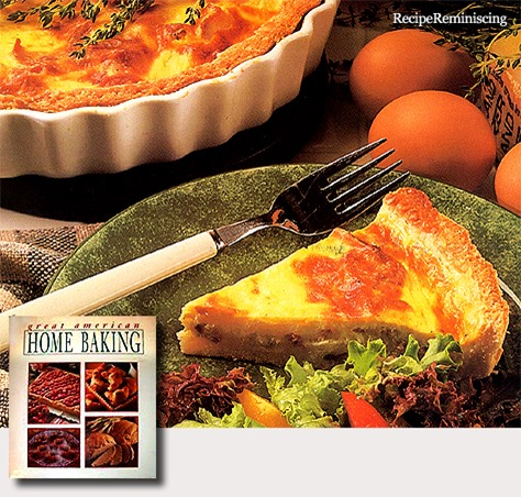 Bacon and Double Cheese Quiche / Quiche med Bacon og To Sorts Oster