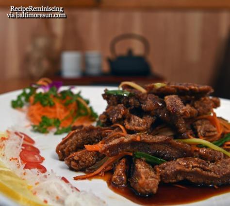 Bamboo Garden's Thai Crispy Beef