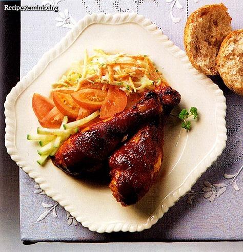 Barbecue Marinated Chicken Drumsticks