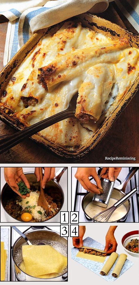 Cannelloni - Innbakte og Fylte Pastaruller