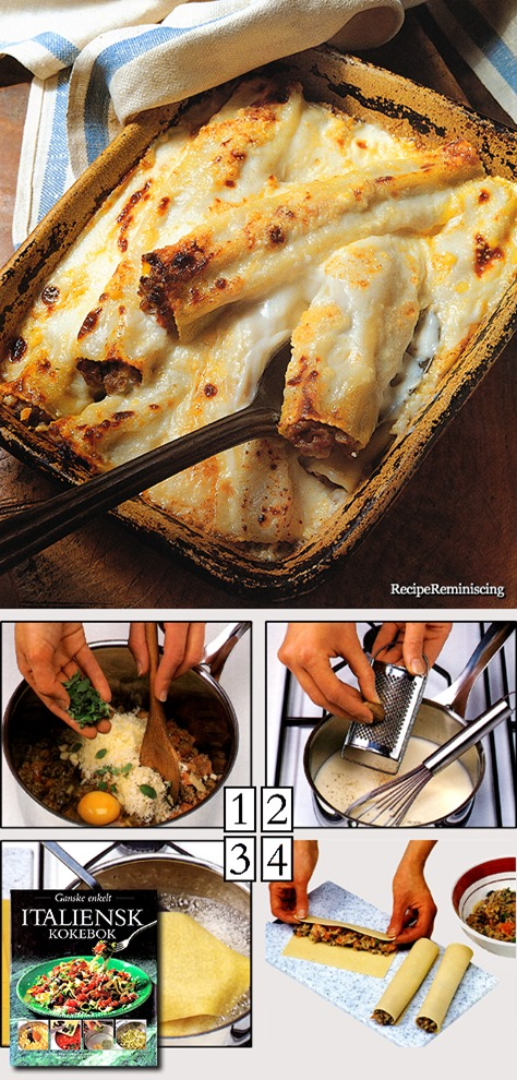 Cannelloni – Baked and Stuffed Pasta Rolls / Innbakte og Fylte Pastaruller