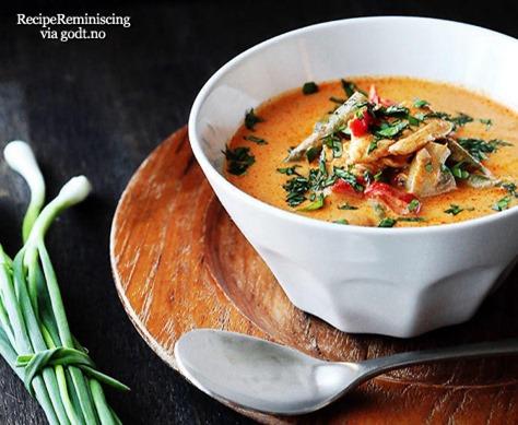 Enkel Thai Kyllingsuppe med Kokosmelk