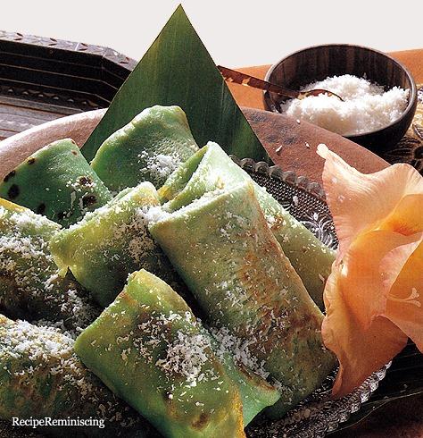 Dadar gulung - Fylte Kokospannekaker fra Sumatra