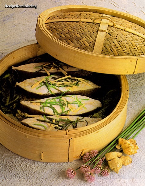 Chinese Style Cooked Halibut with Cabbage