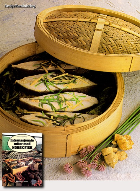 Chinese Style Steamed Halibut with Cabbage / Kokt Kveite på Kinesisk Vis