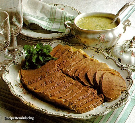 Boiled Beef with Dill Sauce