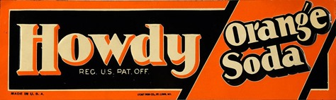 rare-c-1930-tin-howdy-orange-soda-advertising-sign-art-deco-graphics-nr-embossed_231981664062