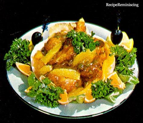Reker og Appelsin en Coquille