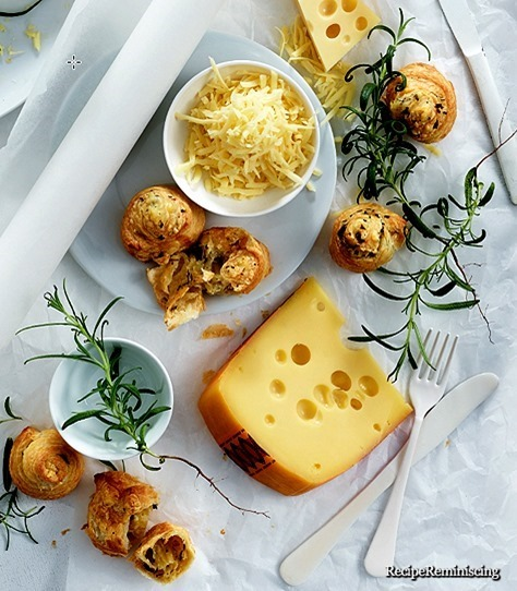 Puff Pastry Swirls with Jarlsberg and Rosemary