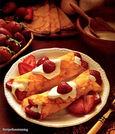 Strawberries & Cream Crepes