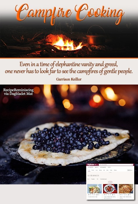 Campfire Cooking - Blueberry Pizza