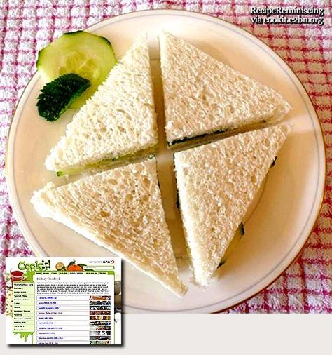 Cucumber (and Mint) Sandwiches / Agurk (og Mynte) Sandwich