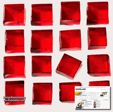 Prosecco Jelly Squares / Prosecco Geléruter