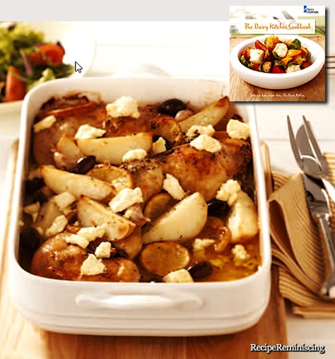Slow Roasted Greek Chicken with Crumbled Feta, Lemon and Olives