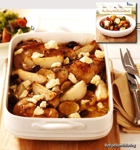 Langsomtstekt Gresk Kylling med Smuldret Feta, Sitron og Oliven